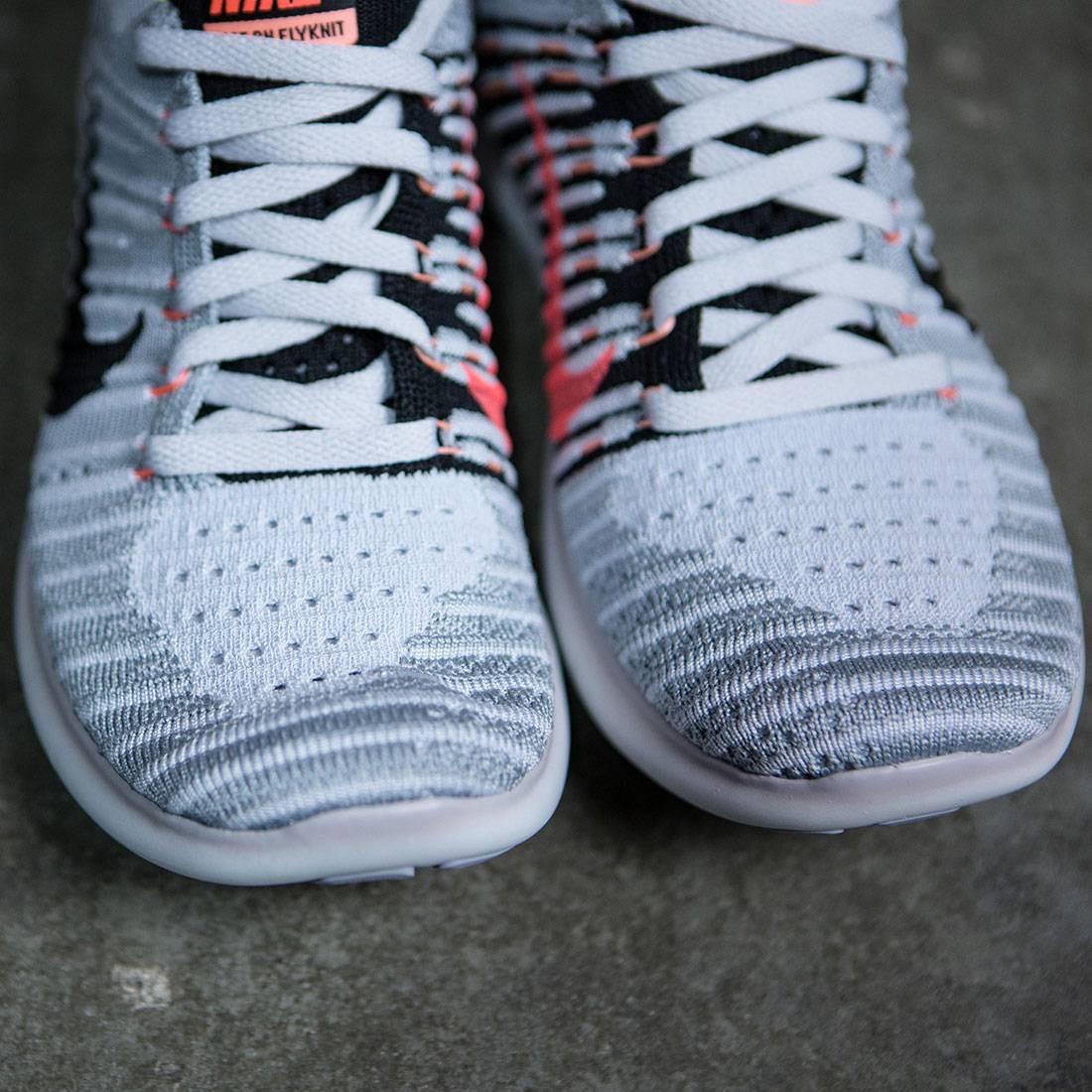 42ced964c12b Nike Women Free Rn Flyknit Running (wolf grey   black-bright mango)