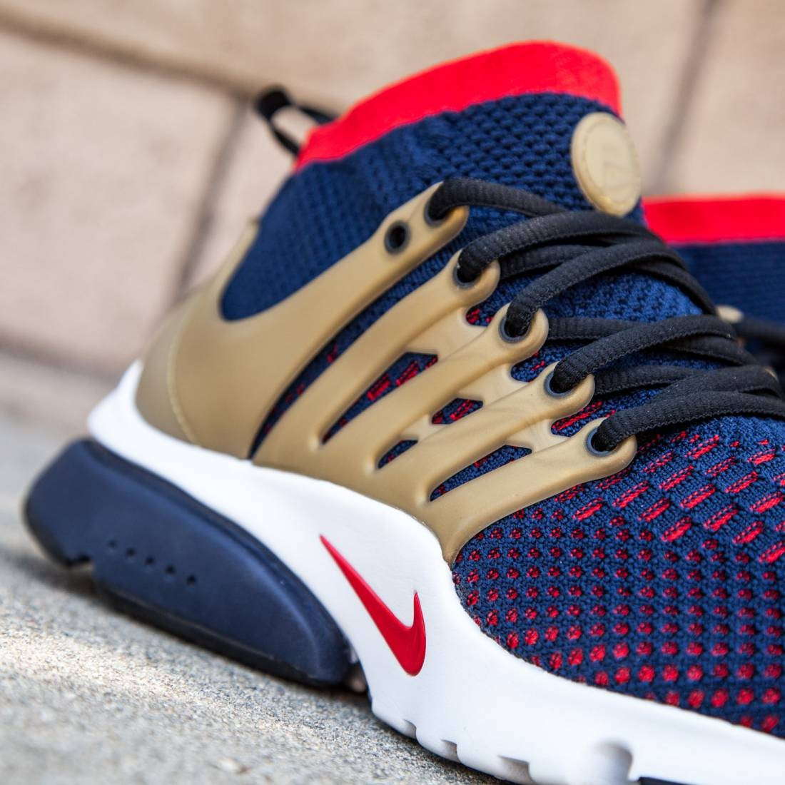 sports shoes de1ad 9b6ab ... brutal honey men black gold 835570 007 f20ef 9a27b  new style nike men  nike air presto ultra flyknit shoe college navy comet red metallic gold
