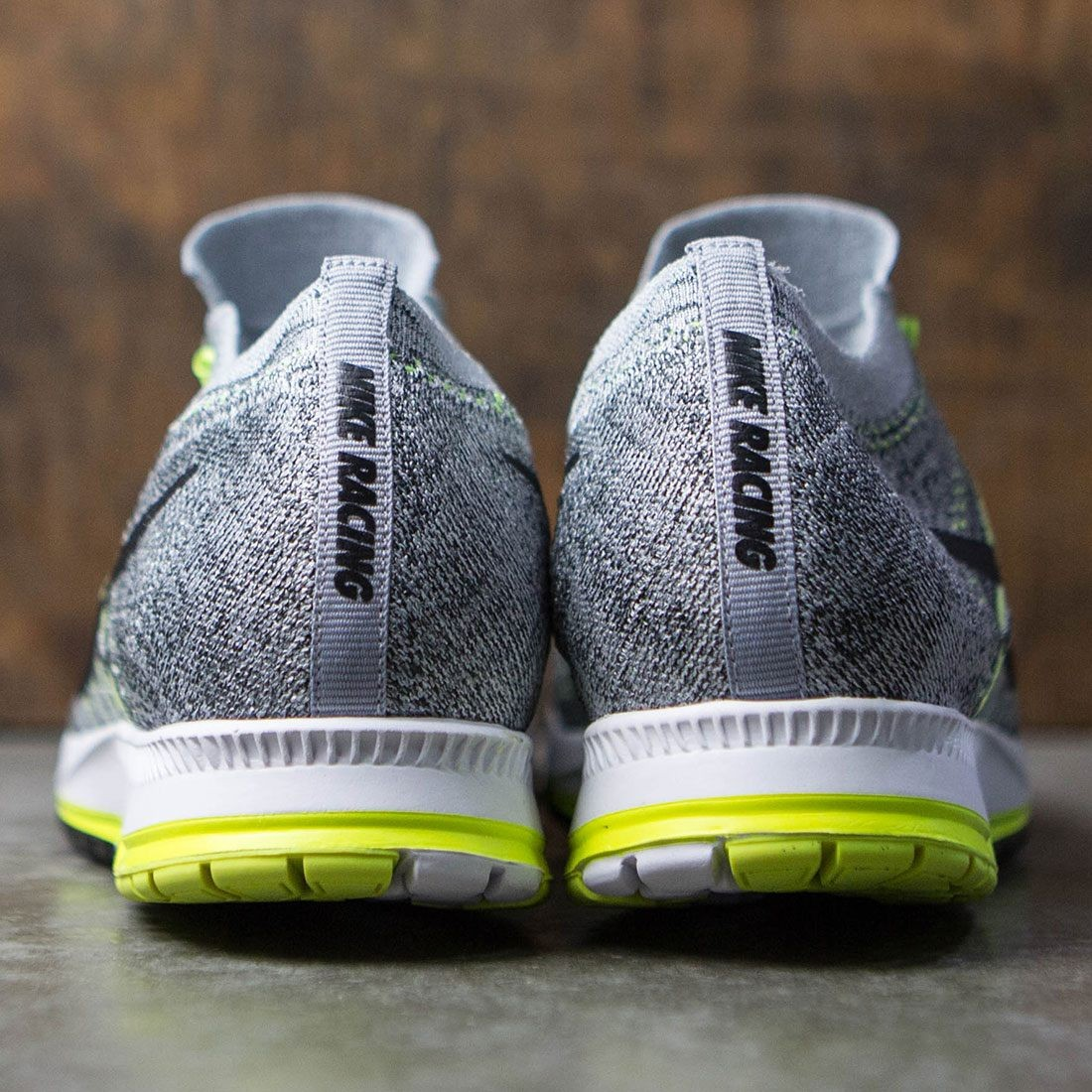 7e0fbd1926ce Nike Men Air Zoom Flyknit Streak 6 Racing (wolf grey    black-anthracite-pure platinum)