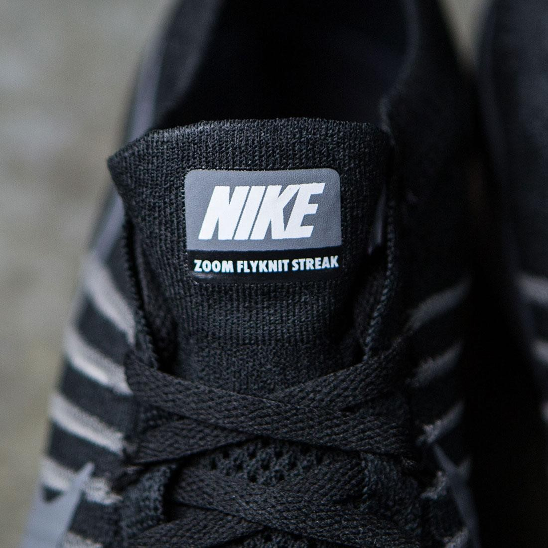 finest selection 3fdfe 7461b Nike Men Air Zoom Flyknit Streak 6 Racing (black   dark grey-white)
