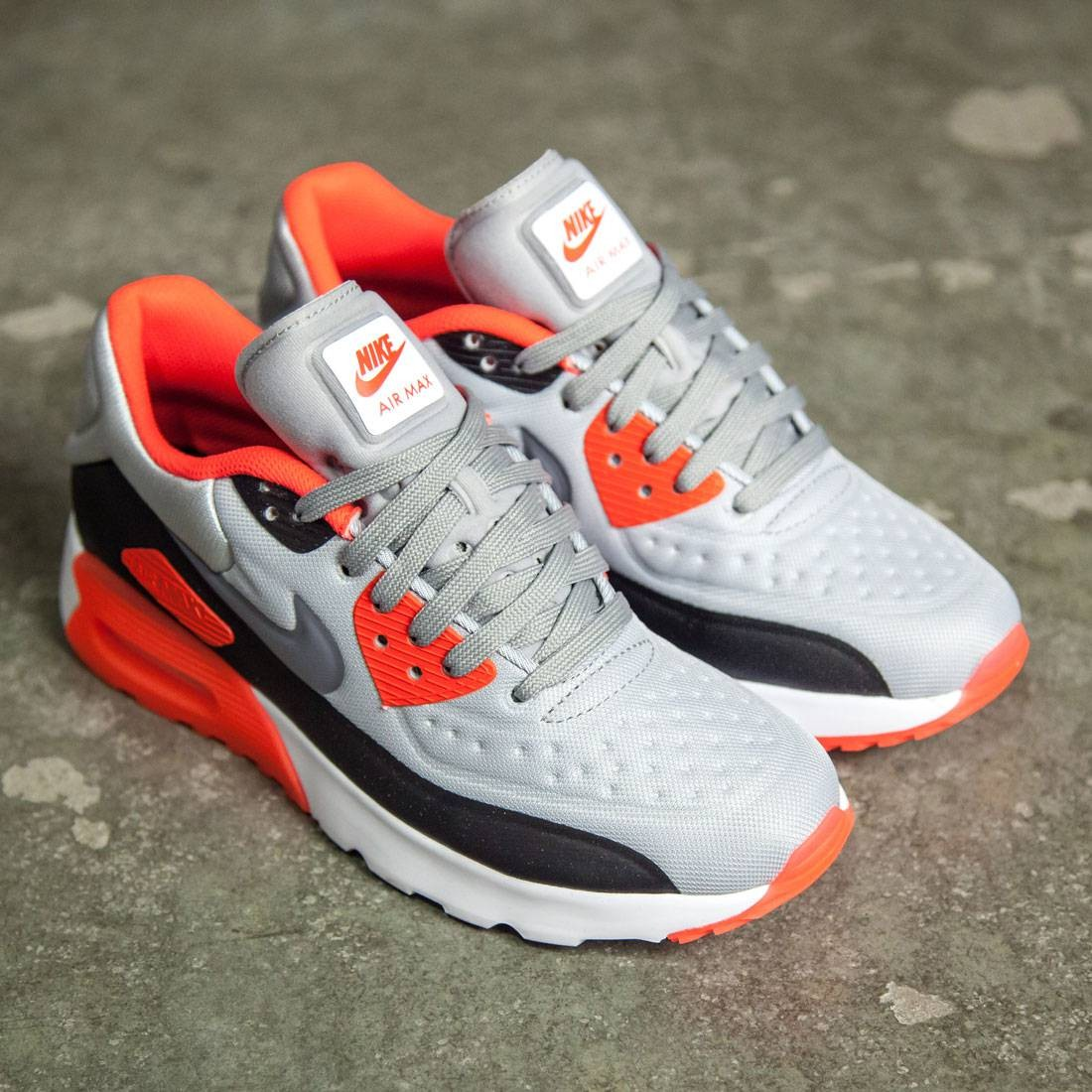 Nike Big Kids Nike Air Max 90 Ultra Se (Gs) (wolf grey / cool grey-bright crimson-black)