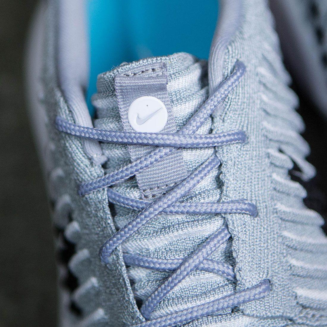 74cde9164652d Nike Men Roshe Two Flyknit (wolf grey   black-white-gamma blue)