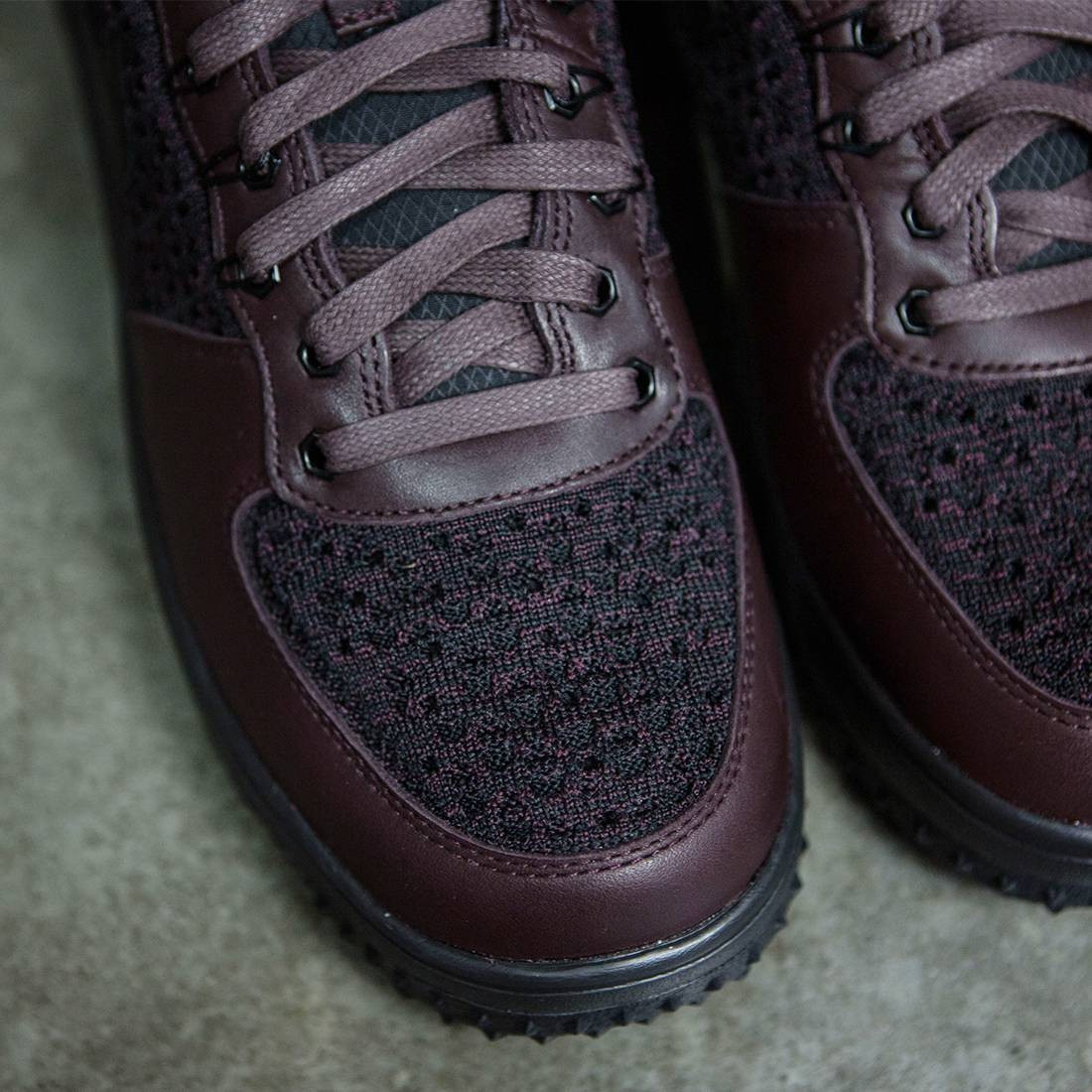 finest selection bf1f1 76e15 Nike Men Lunar Force 1 Flyknit Workboot (deep burgundy   black-summit white)