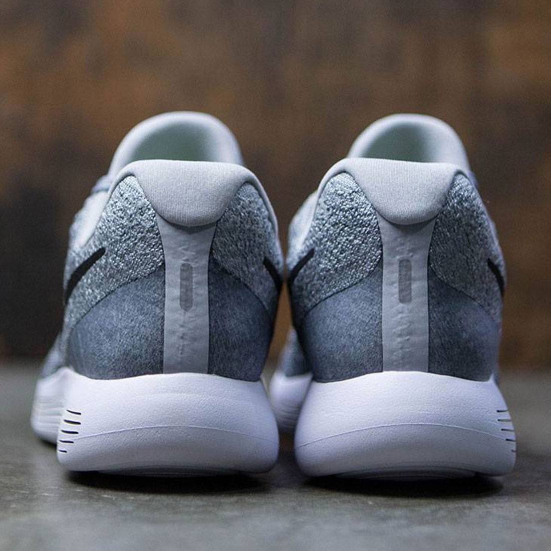 72d87a9f356c4 Nike Women Lunarepic Low Flyknit 2 Running (wolf grey   black-cool grey-pure  platinum)