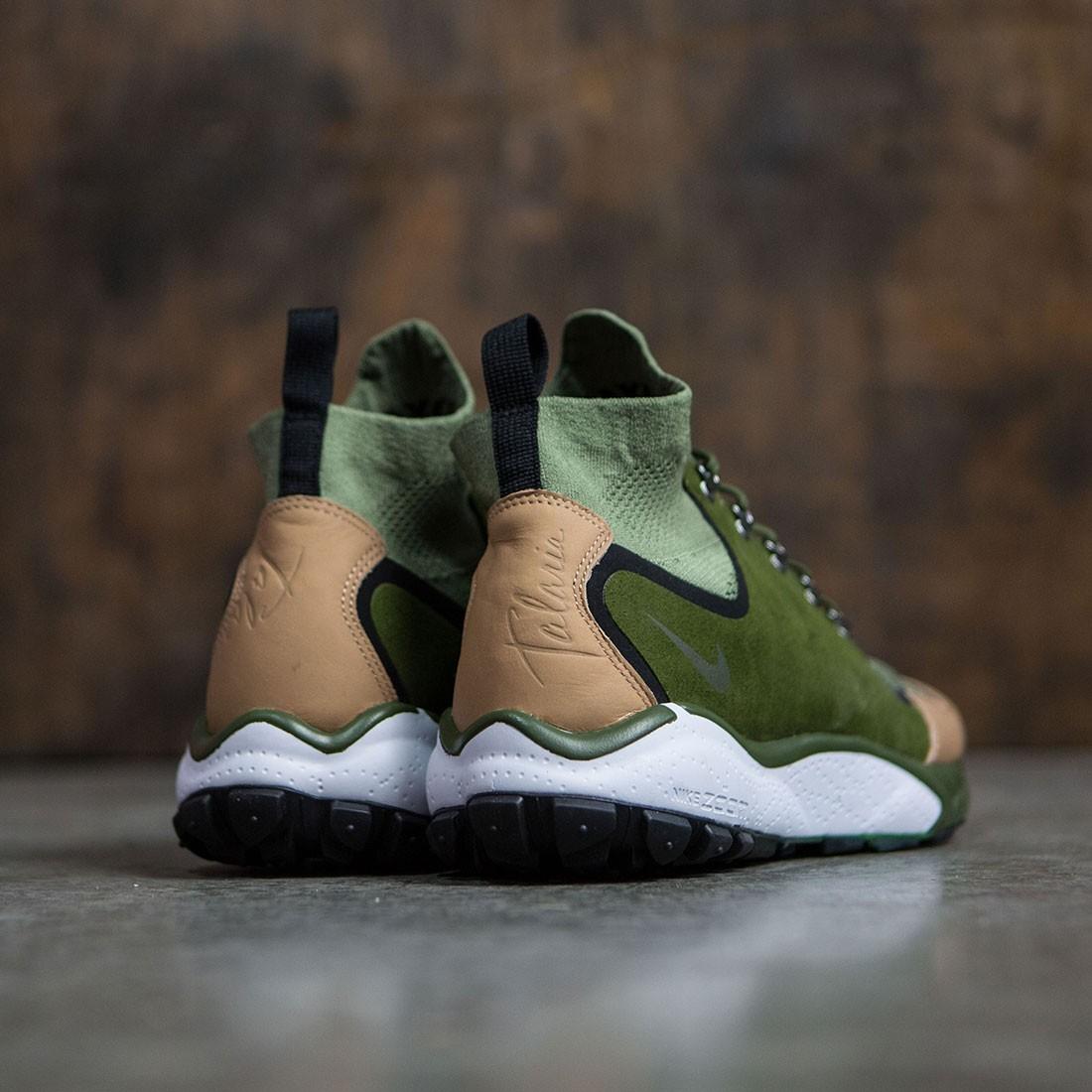 3bb391c72d3e Nike Men Air Zoom Talaria Mid Flyknit Premium (palm green   legion  green-vachetta tan)