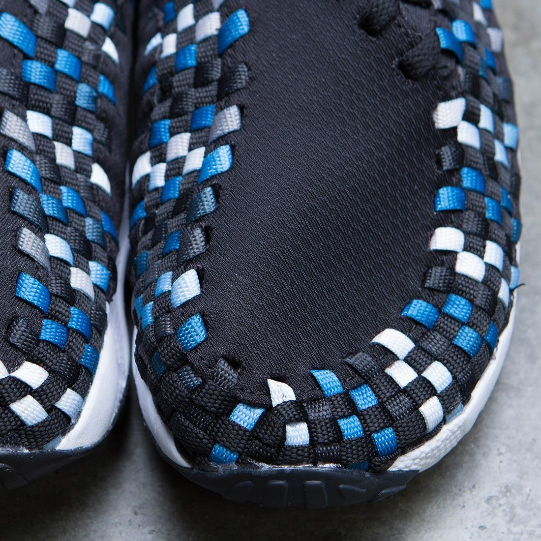 the latest 4b95f 59889 Nike Men Air Footscape Woven Nm (black   blue jay-white)