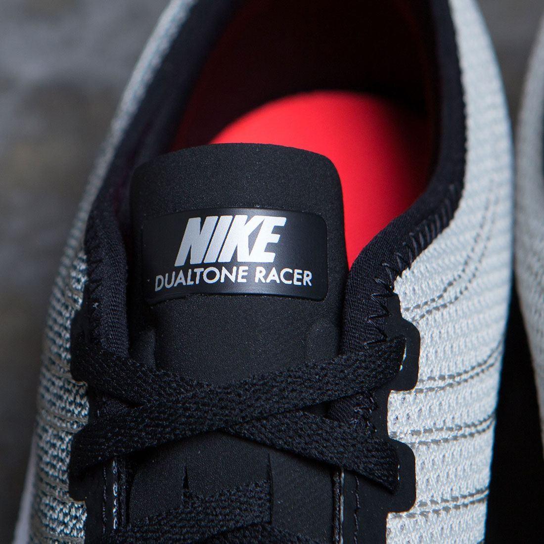 b97ac1728b46 Nike Men Dualtone Racer (black   white-pale grey-solar red)