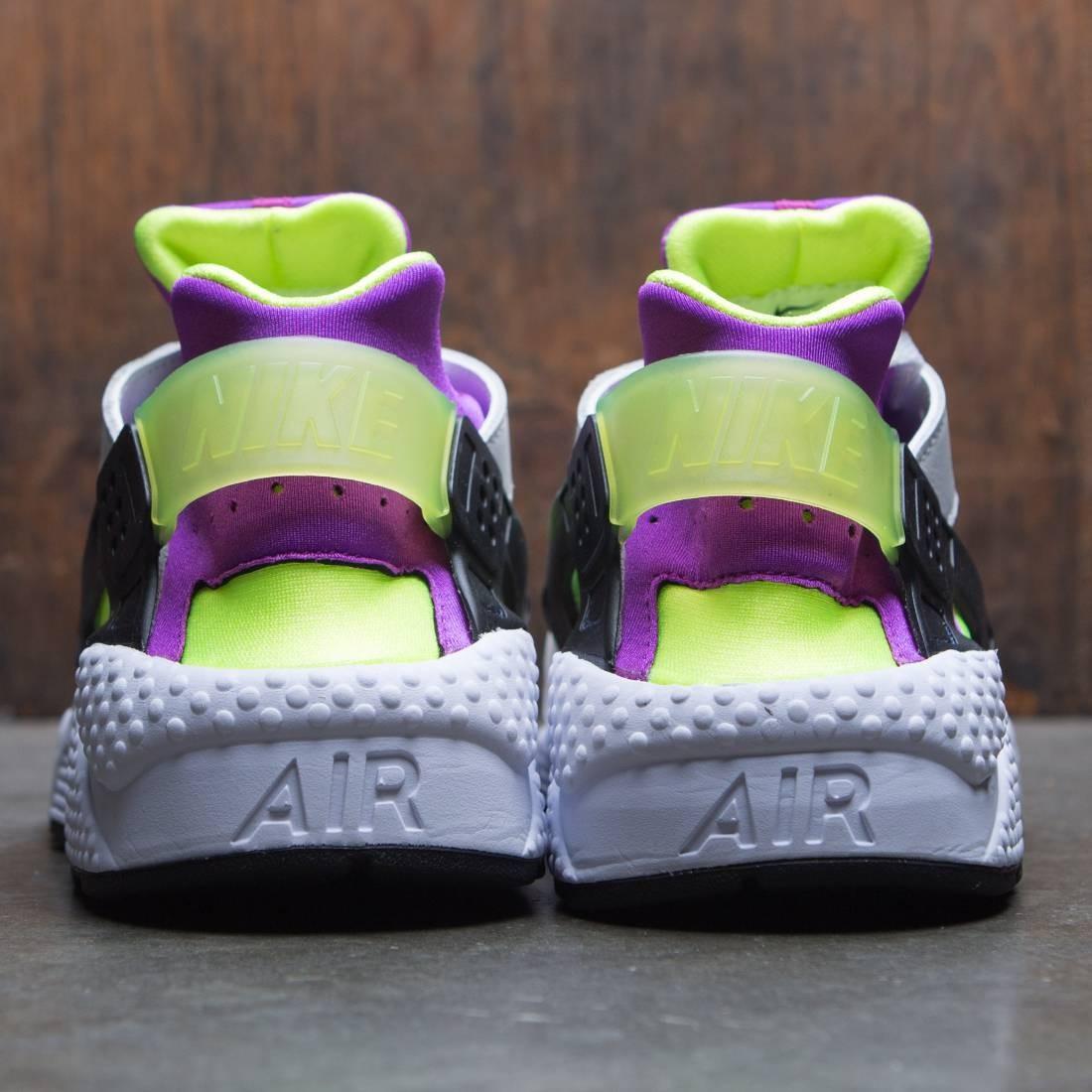 premium selection c669f 4afbc Nike Men Air Huarache Run 91 Qs (white   black-neon yellow-magenta)
