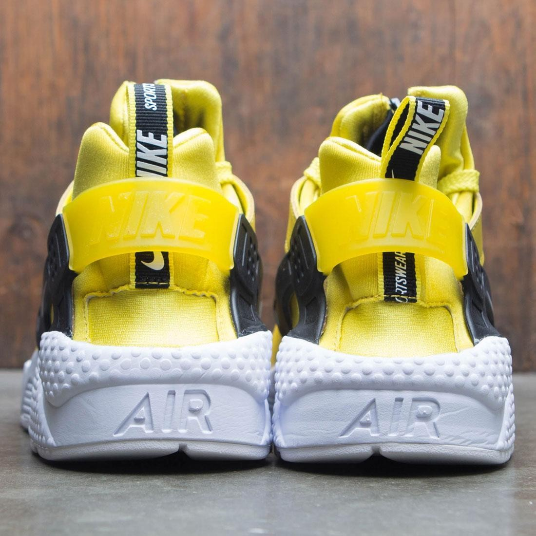 8096250e6b12 Nike Men Air Huarache Run Premium Zip (bright citron   white-black)