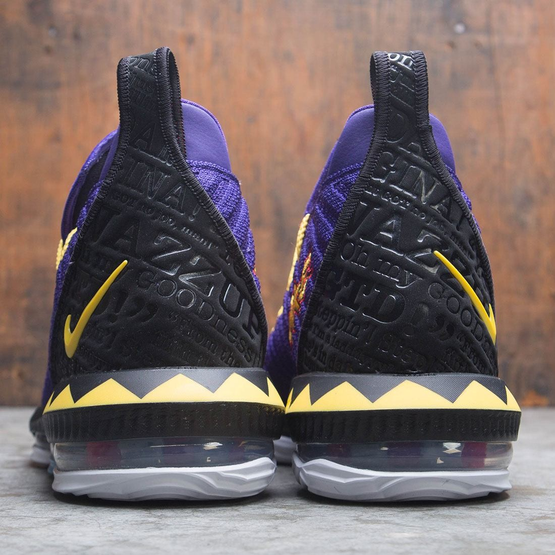 new product 48b94 9a23f Nike Men Lebron Xvi Martin (court purple   tour yellow   comet red)