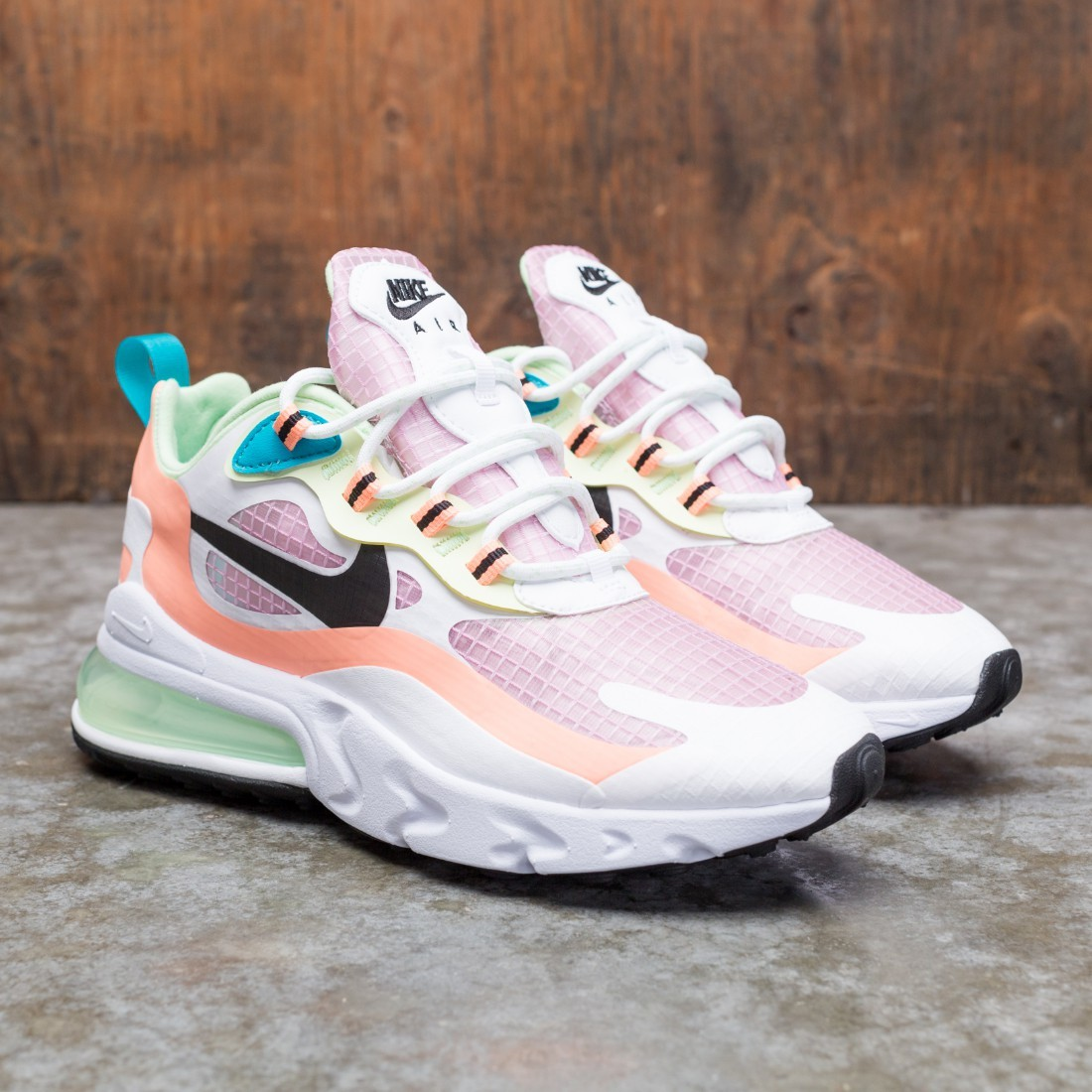 Nike Women Air Max 270 React Se Lt Arctic Pink Black Orange Pulse