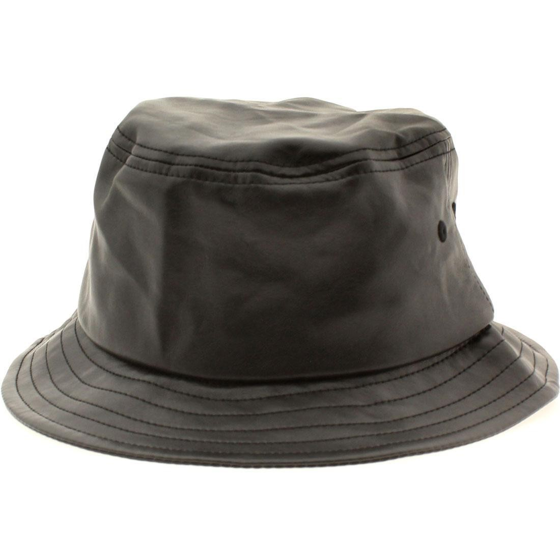 Stussy Stock Leather Bucket Hat (black) 8e7906d5986
