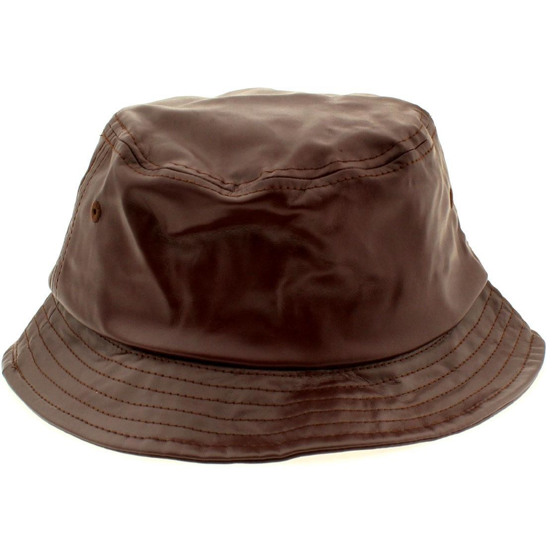 Stussy Stock Leather Bucket Hat (burgundy) e7cde8f109d