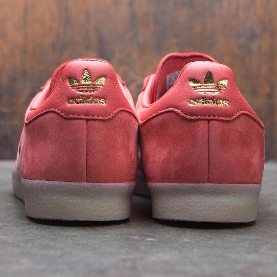 sneakers for cheap 1ed9b 7dc16 Adidas Men Oyster Holdings Adidas 350 (red  trace scarlet  chalk white   metallic gold)