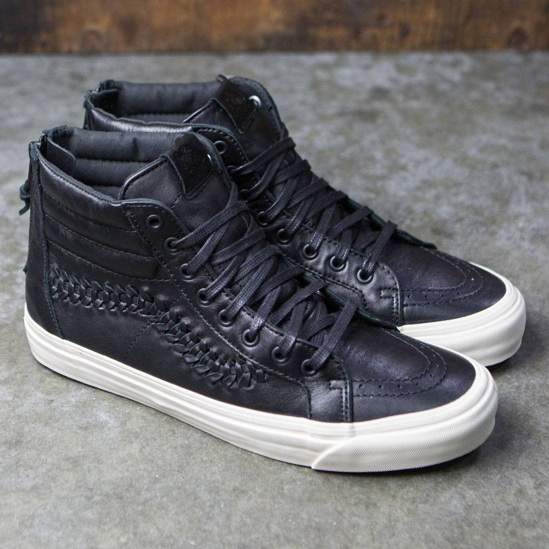c39c82d9495d Vans Men Sk8-Hi Zip Weave DX - Leather (black)