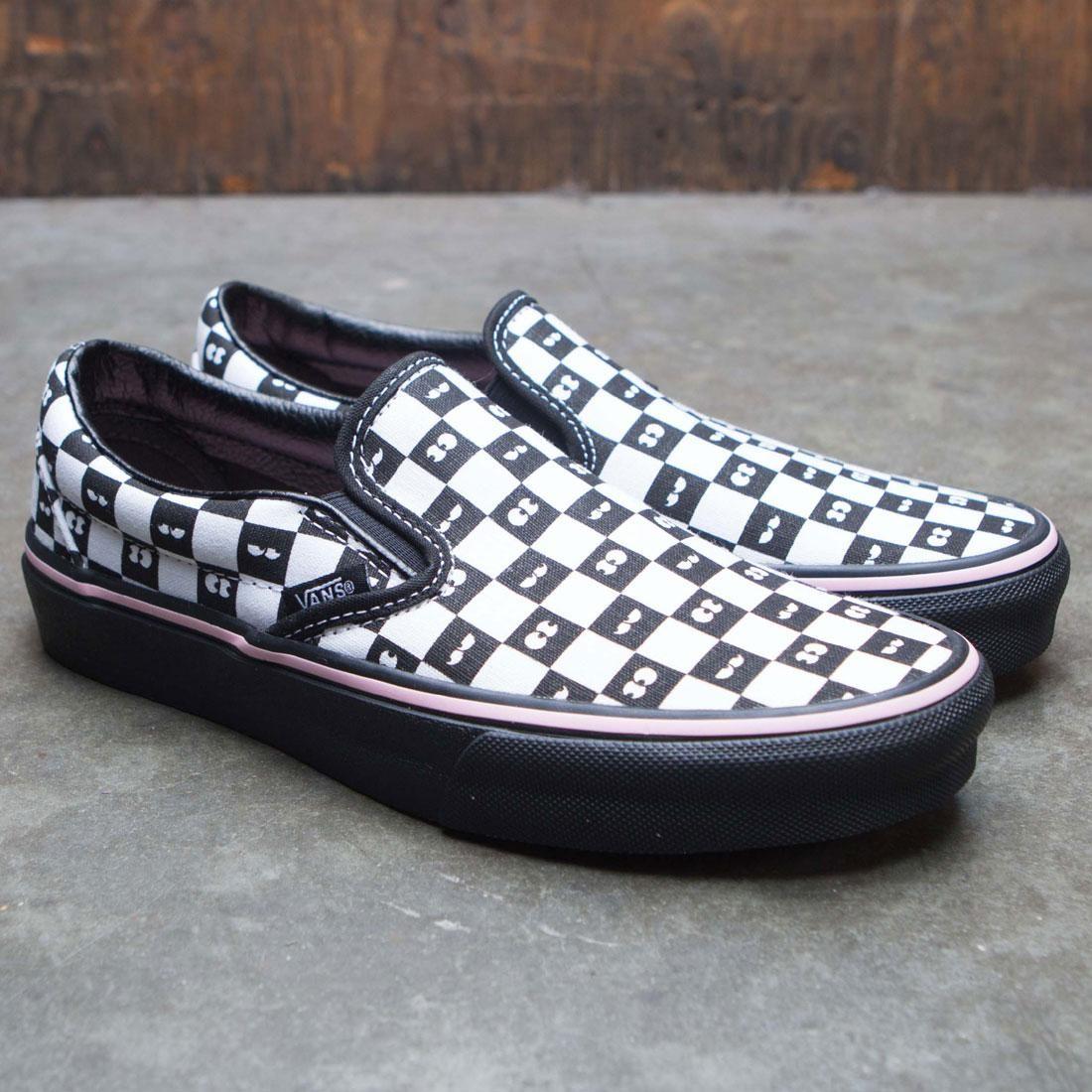 Vans x Lazy Oaf Women Classic Slip-On (black   checkerboard) 35fc58c86c