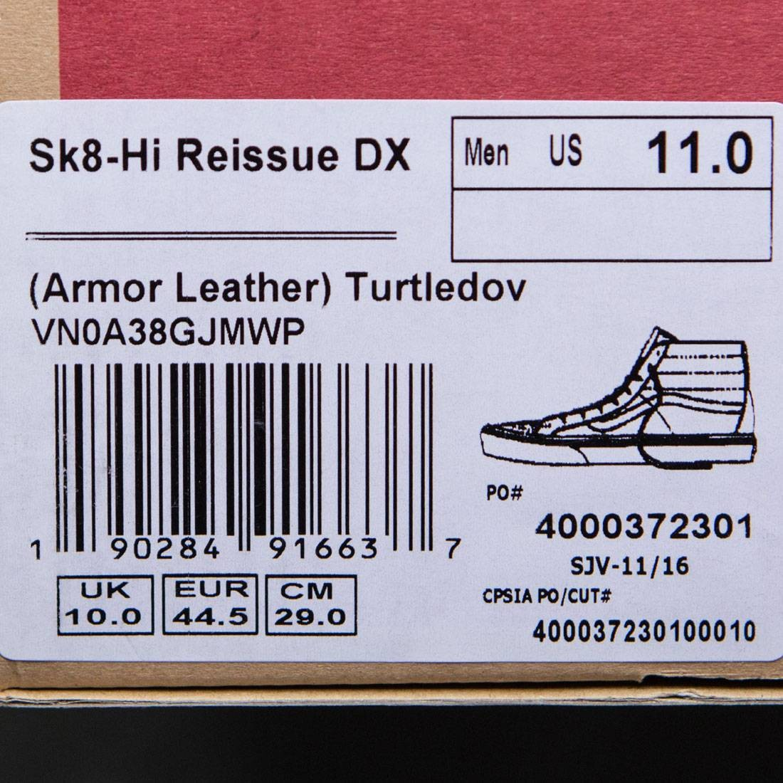 5fd09a7443c2f2 Vans Men Sk8-Hi Reissue DX - Armor Leather (white   turtledove)