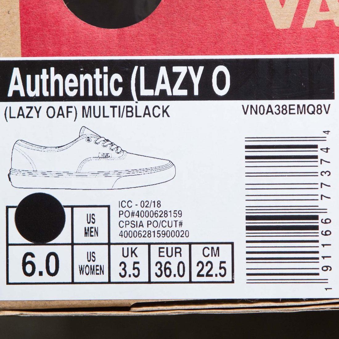 b6898e1ec67 Vans x Lazy Oaf Women Authentic (black   multi)