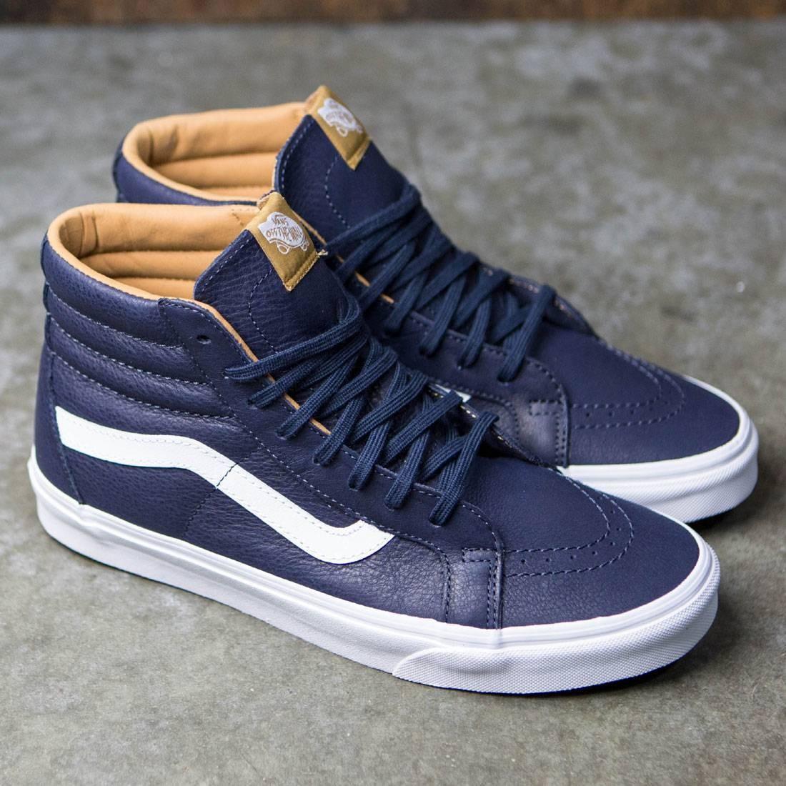 Vans Men Sk8-Hi Reissue - Premium Leather (blue   parisian night   true  white) 8326f6cba