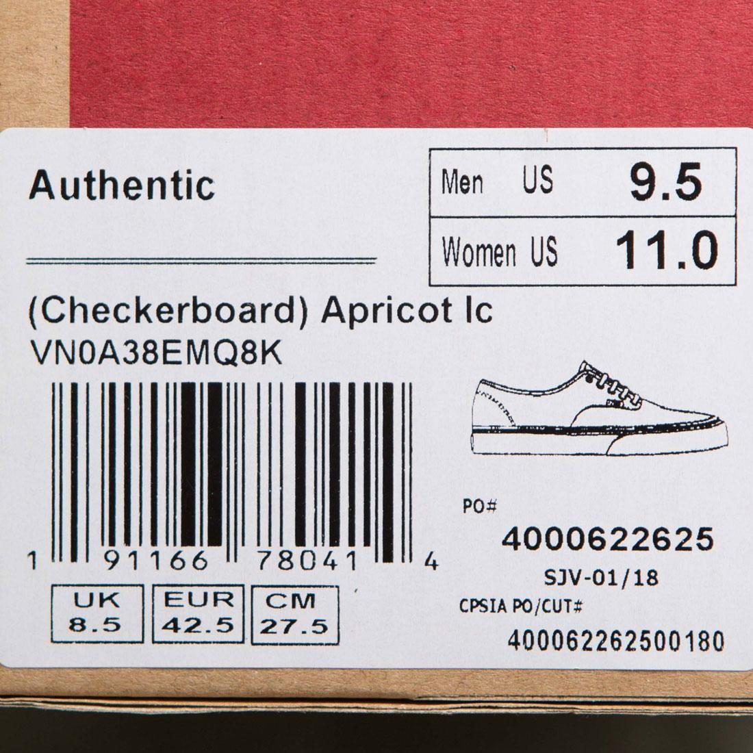 f9cc0c1e66202b Vans Men Authentic - Checkerboard (pink   peach apricot)