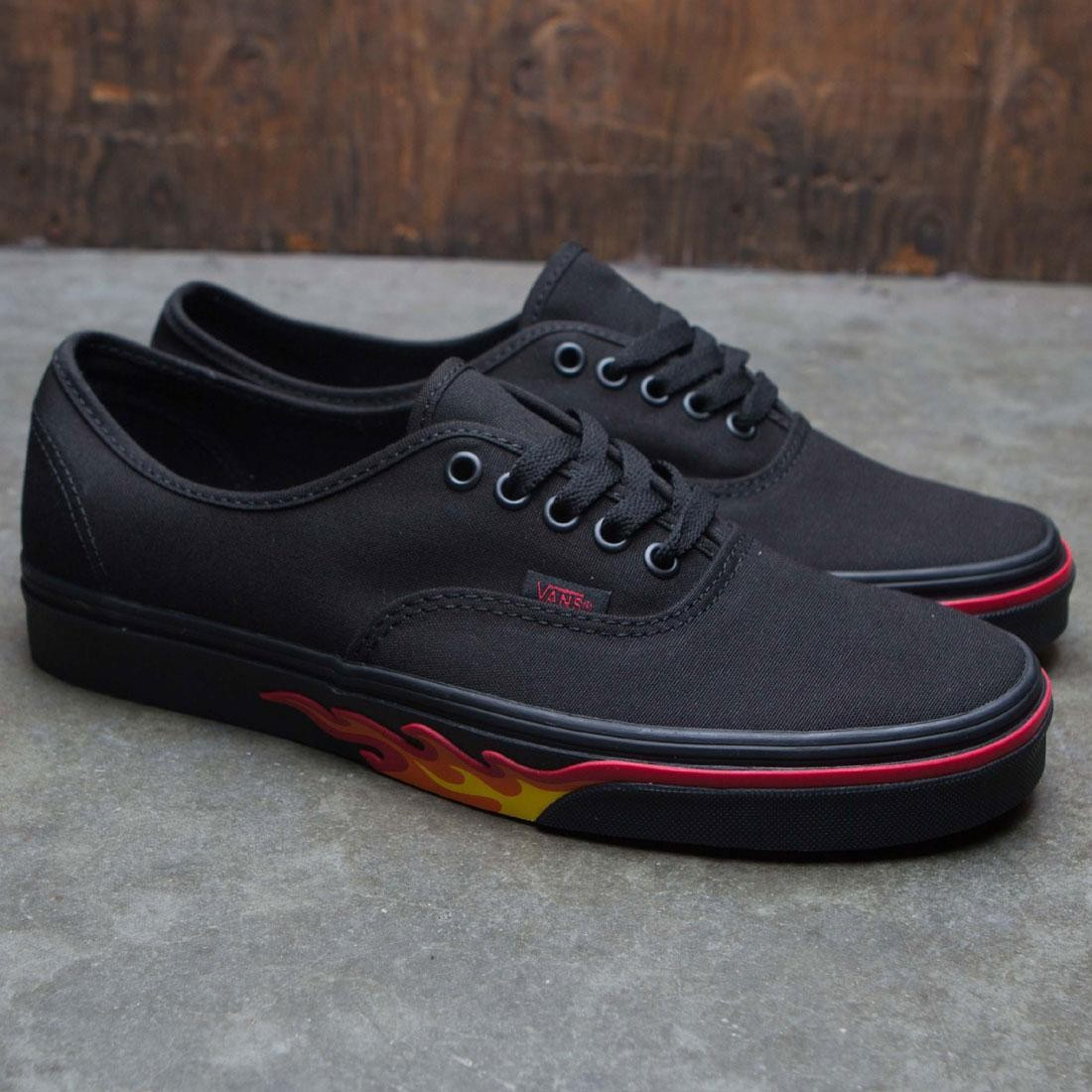Vans Men Authentic - Black Flame Wall (black / flames)
