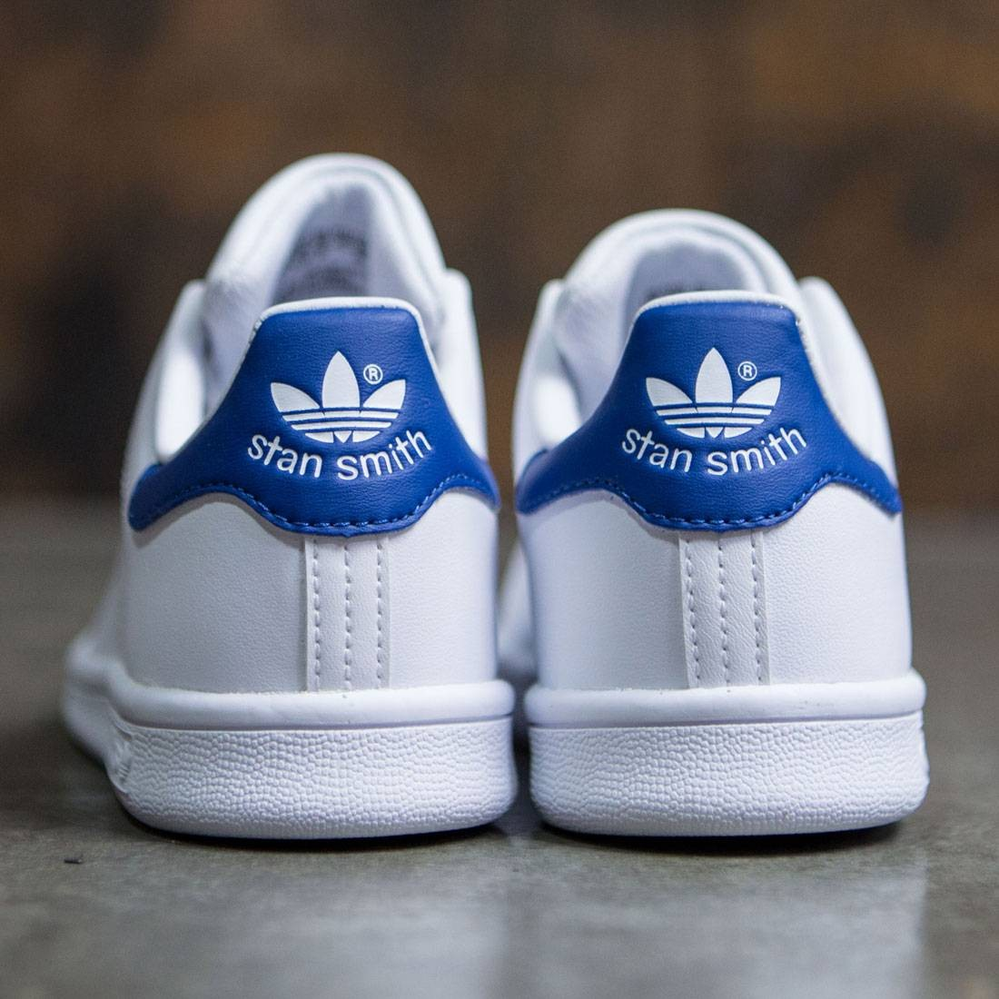 newest collection 59112 aa284 Adidas Little Kids Stan Smith (white / footwear white / eqt blue)