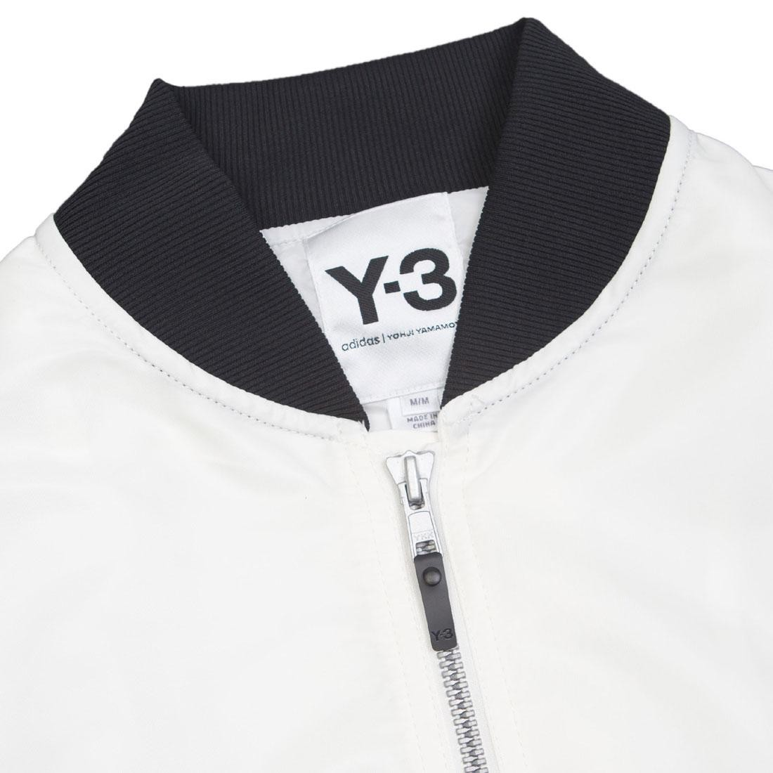 3d0ad7a234e3 Adidas Y-3 Men Emblem Bomber Long Jacket (white   chalk white)