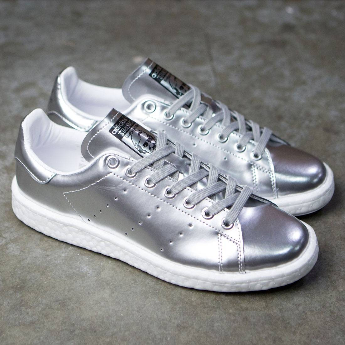 shop best sellers new concept best online Adidas Women Stan Smith Boost W (silver / silver metallic / footwear white)