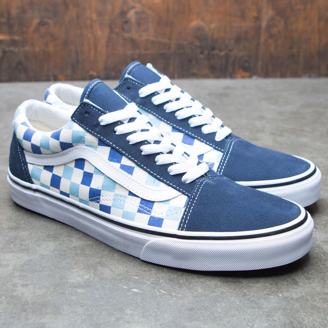 e1cfff185c351f Vans Men Old School - Checkerboard (blue   topaz)