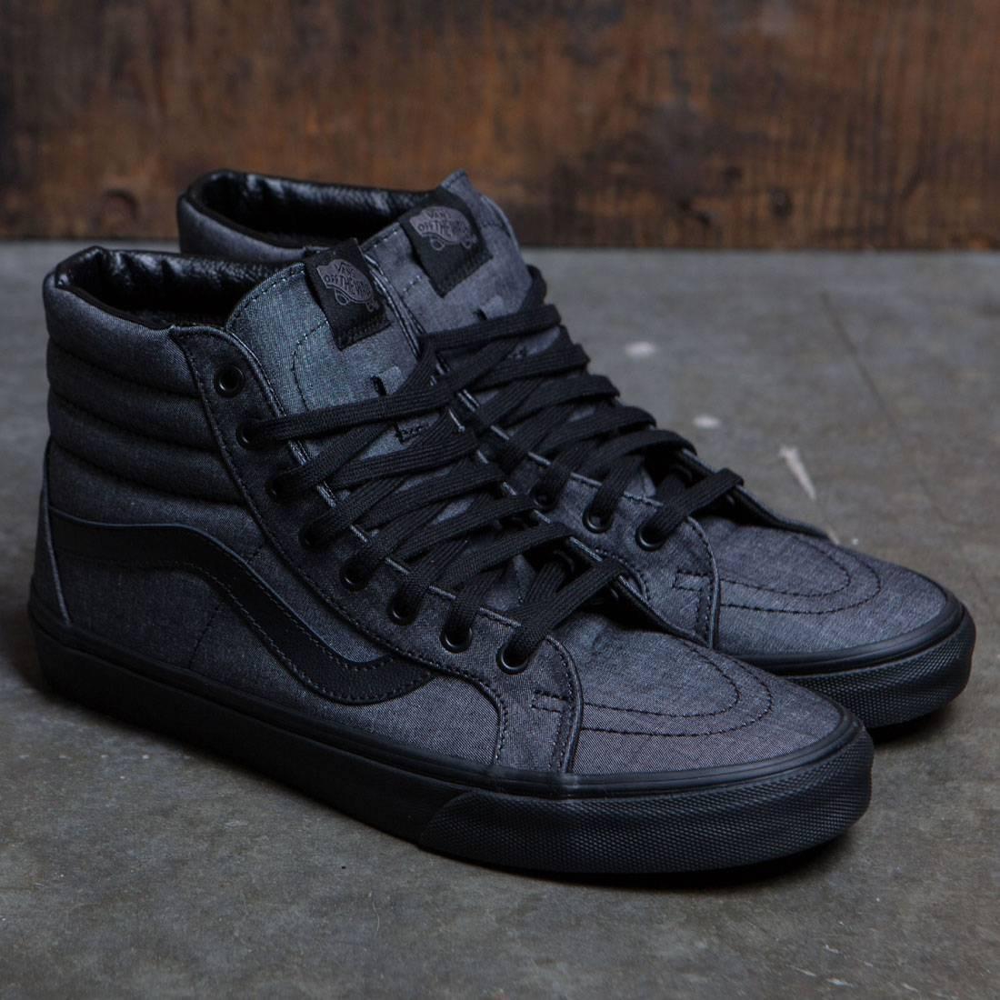 5fc4d9eb24 Vans Men Sk8-Hi (black   mono chambray)