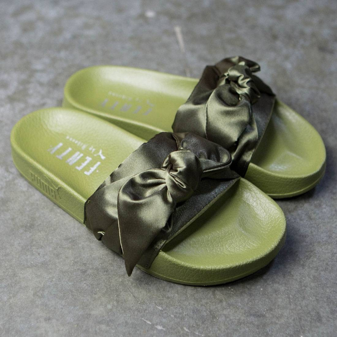 super popular c41e7 0320b Puma x Fenty By Rihanna Women Bow Slides (olive / silver)