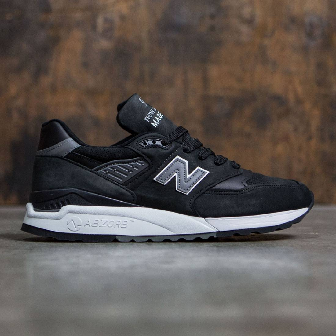 f7200fe5fc96a2 New Balance Men 998 M998DPHO - Made In USA black grey