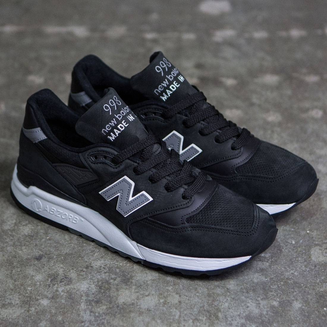 new concept 5f3b7 8cf38 New Balance Men 998 M998DPHO - Made In USA (black / grey)