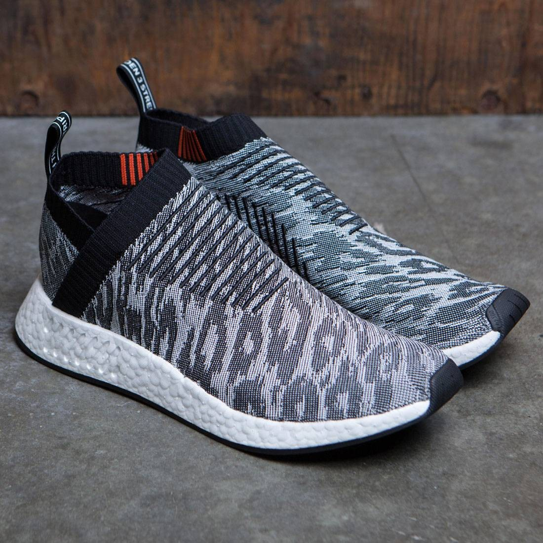 077150999 Adidas Men NMD CS2 Primeknit (black   core black   future harvest)