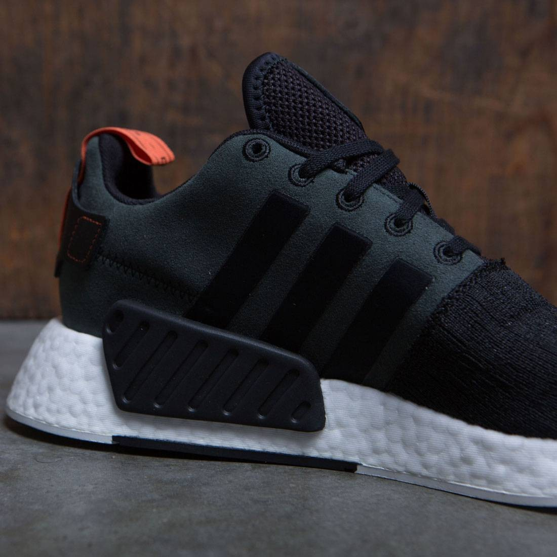 7d1688fff783b2 Adidas Men NMD R2 (black   core black   future harvest)