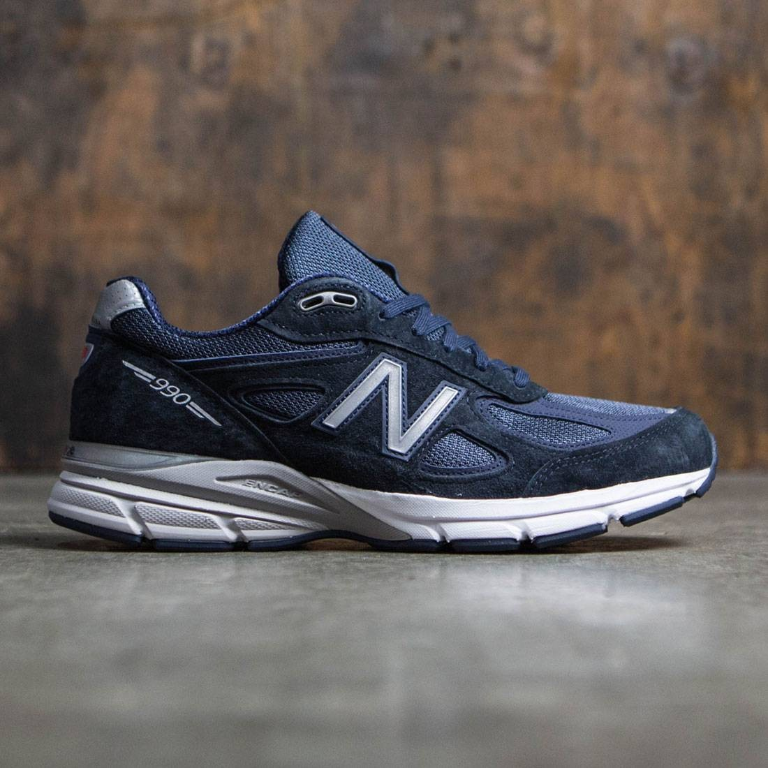 Navy Blue New Balance 990v4 Men/'s Running Shoe M990NV4