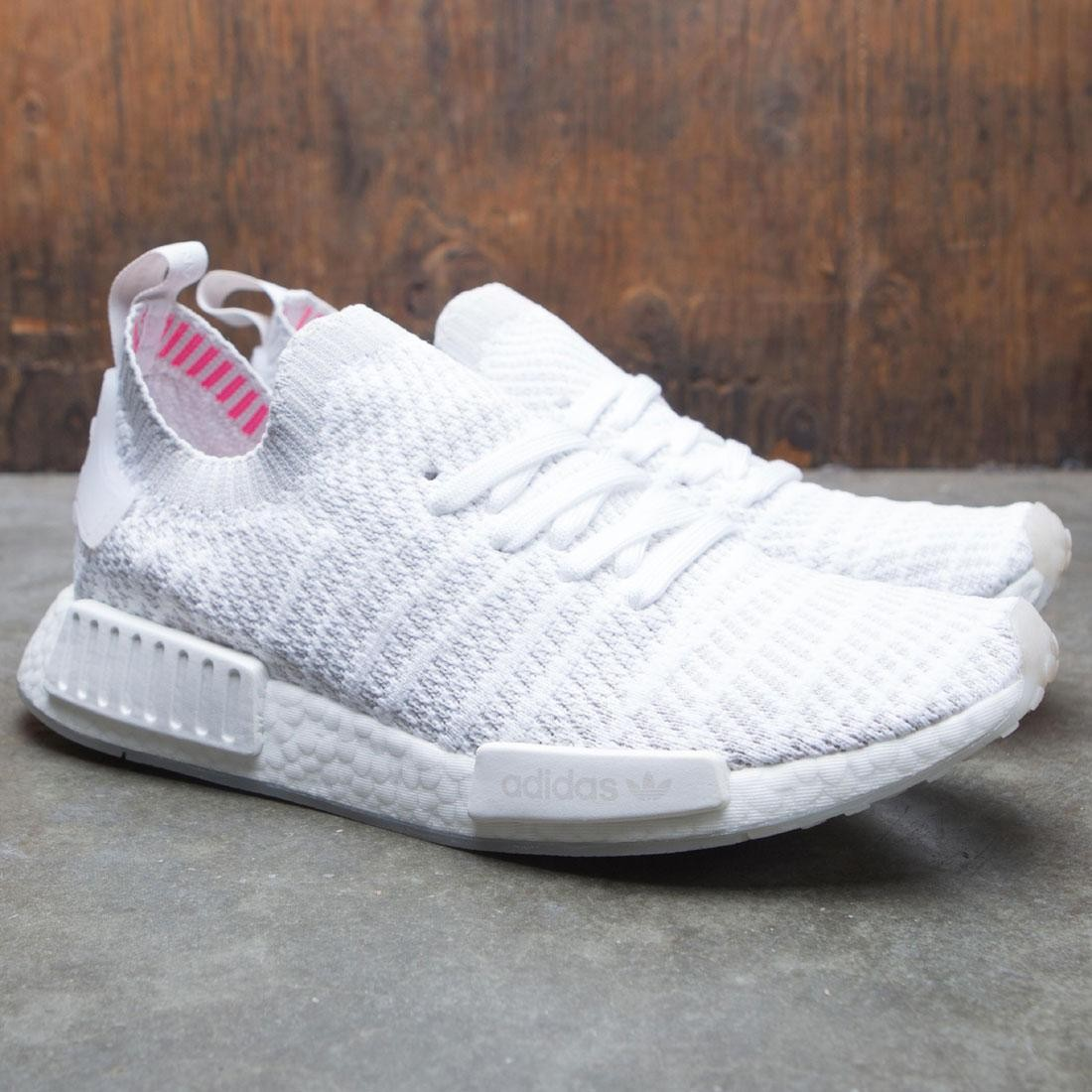 timeless design 0e34f 5e8a2 Adidas Men NMD R1 STLT Primeknit (white / grey one / solar pink)