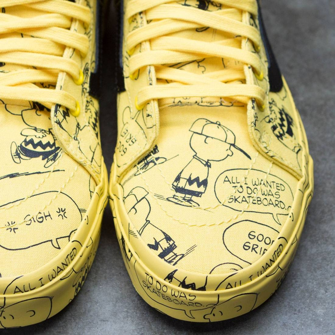VANS PEANUTS vans peanut sneakers shoes Lady's SK8 HI REISSUE Charlie brown skating high Lee Shu (スケハイ) CHARLIE BROWNMAIZE (VN0A2XSBQX4 FW17)