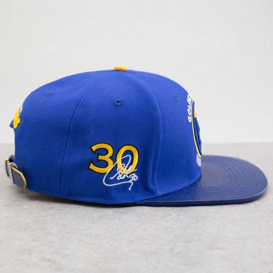 b5383a2875d Pro Standard x NBA Golden State Warriors Leather Brim Hat (blue   royal)