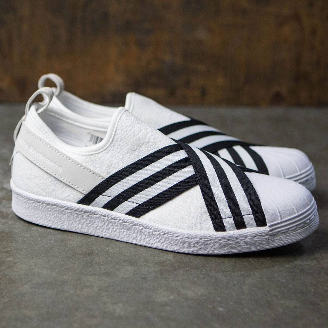 e860e7858a4f Adidas Men White Mountaineering Superstar Slip-On Primeknit (white   core  black   footwear white)