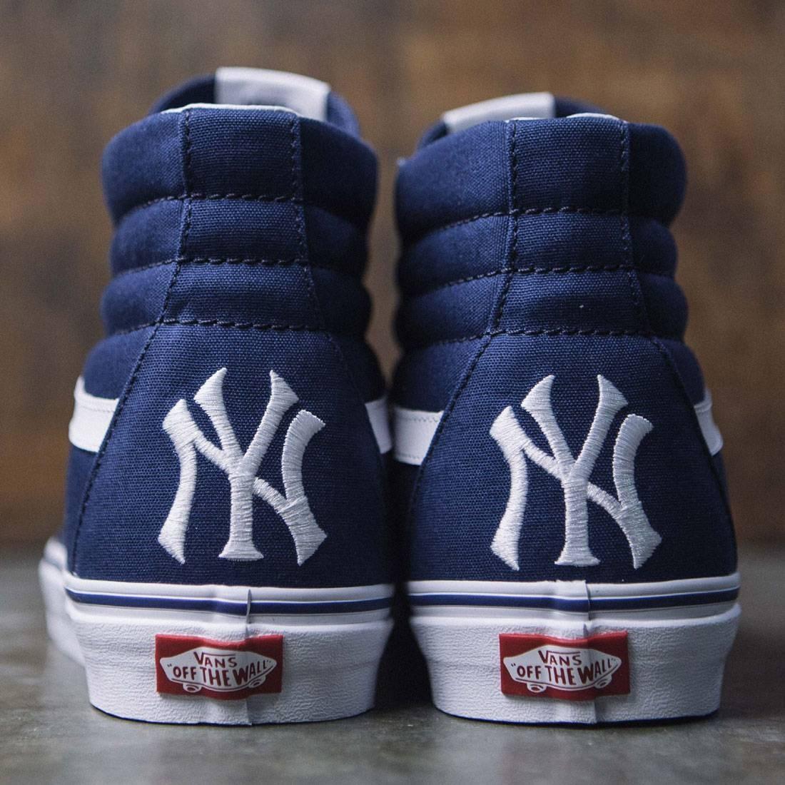 f7f11d89f79 Vans x MLB New York Yankees Men Sk8-Hi - Yankees (gray)