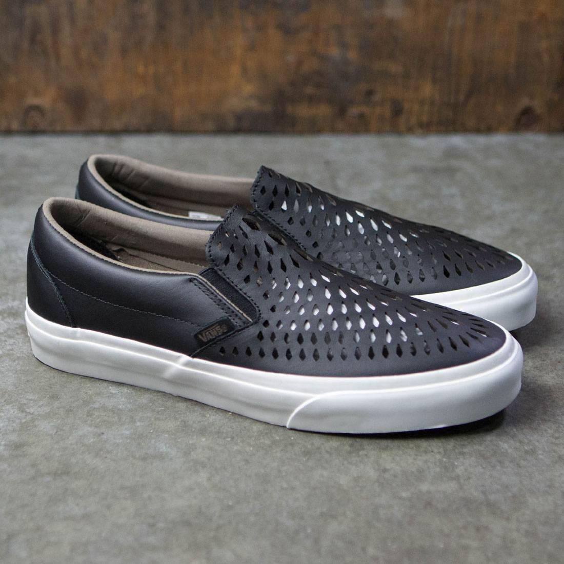 Vans Men Classic Slip-On Dx - Havana Perforated Leather (black) 9031cb77c