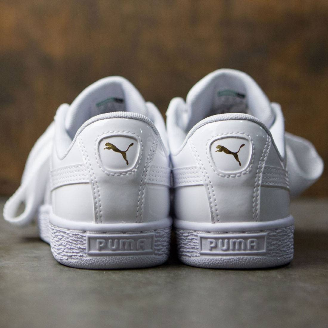1e27d8781c2 Puma Women Basket Heart Patent (white)