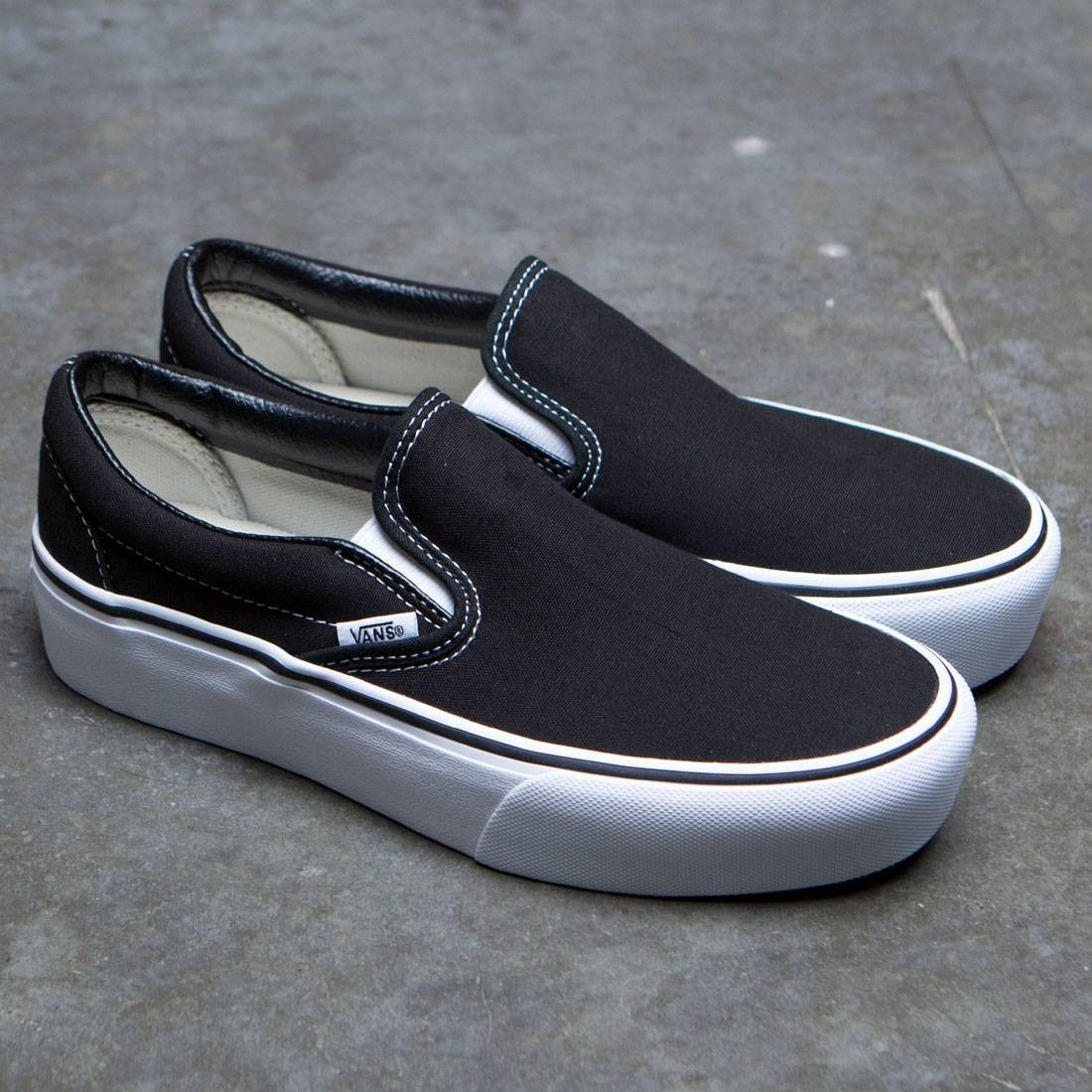 9cd36487 Vans Women Classic Slip-On Platform (black)