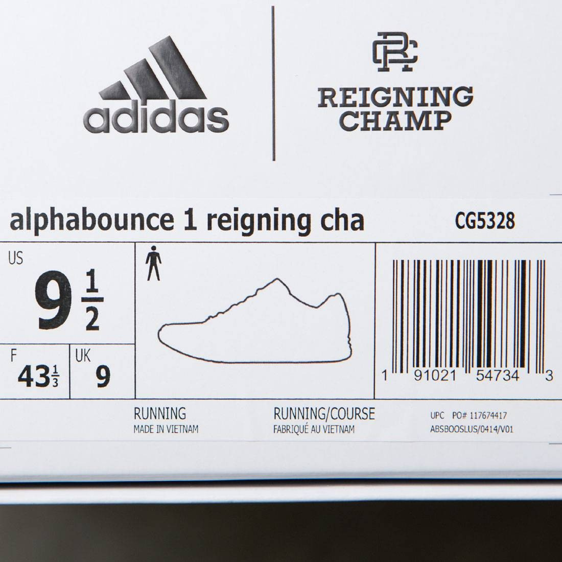 27ce3ddcc25d8 Adidas x Reigning Champ Men Alphabounce 1 (white   chalk white   grey two)