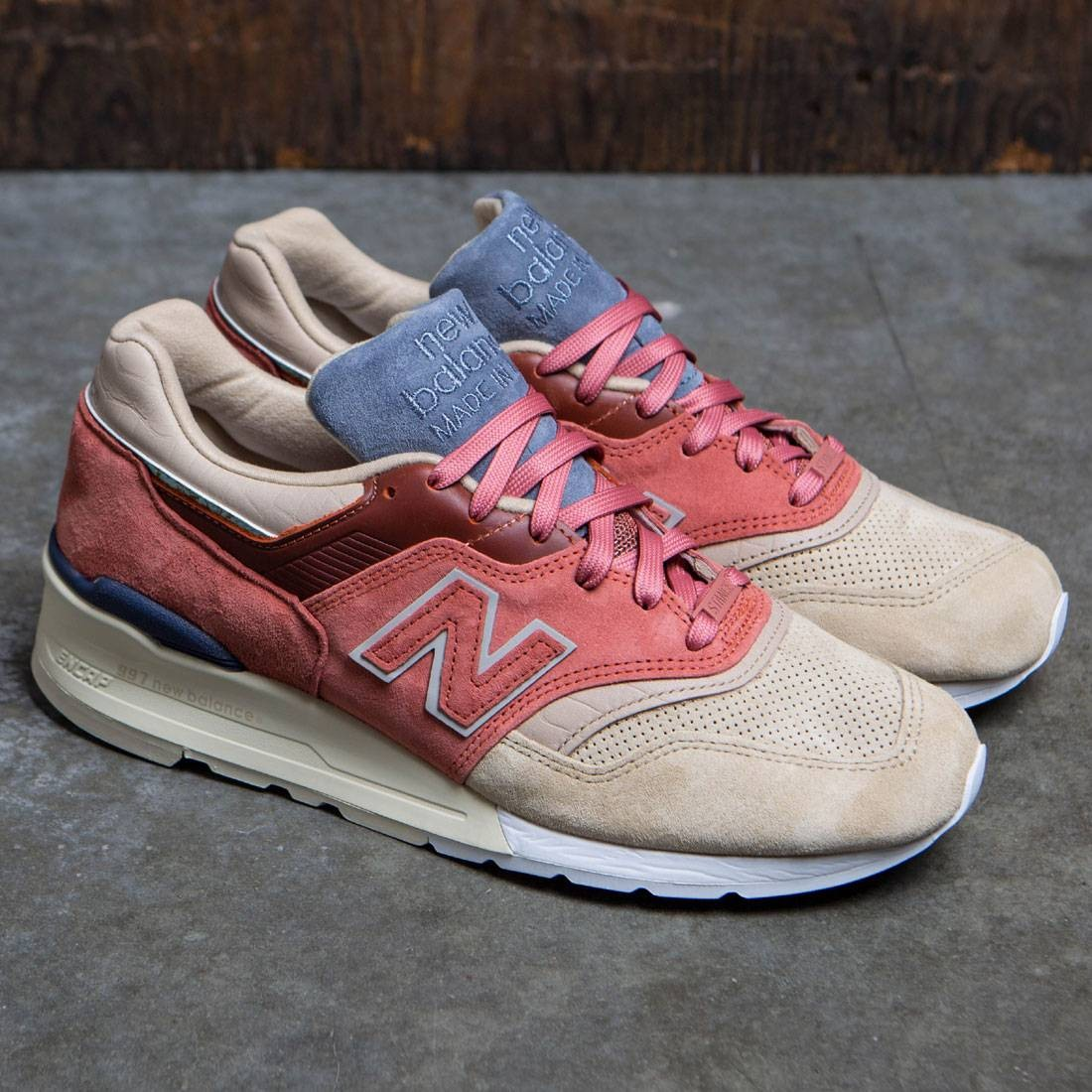 the latest b72fc e8cde New Balance x Stance Men M997 First Of All - Made In USA (tan / rose / sand)