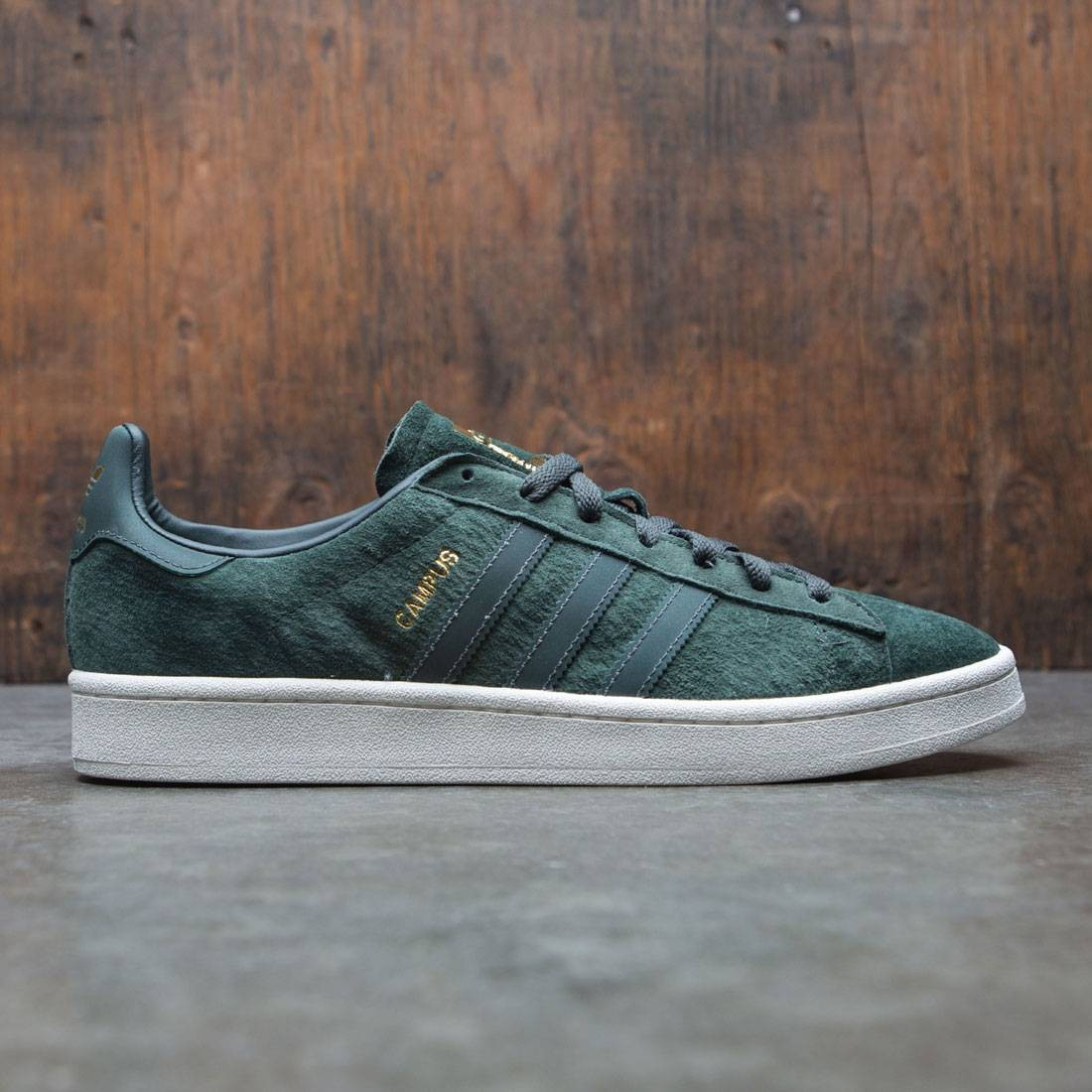 Adidas Men Campus Green Utility Ivy Reflective Gold Metallic