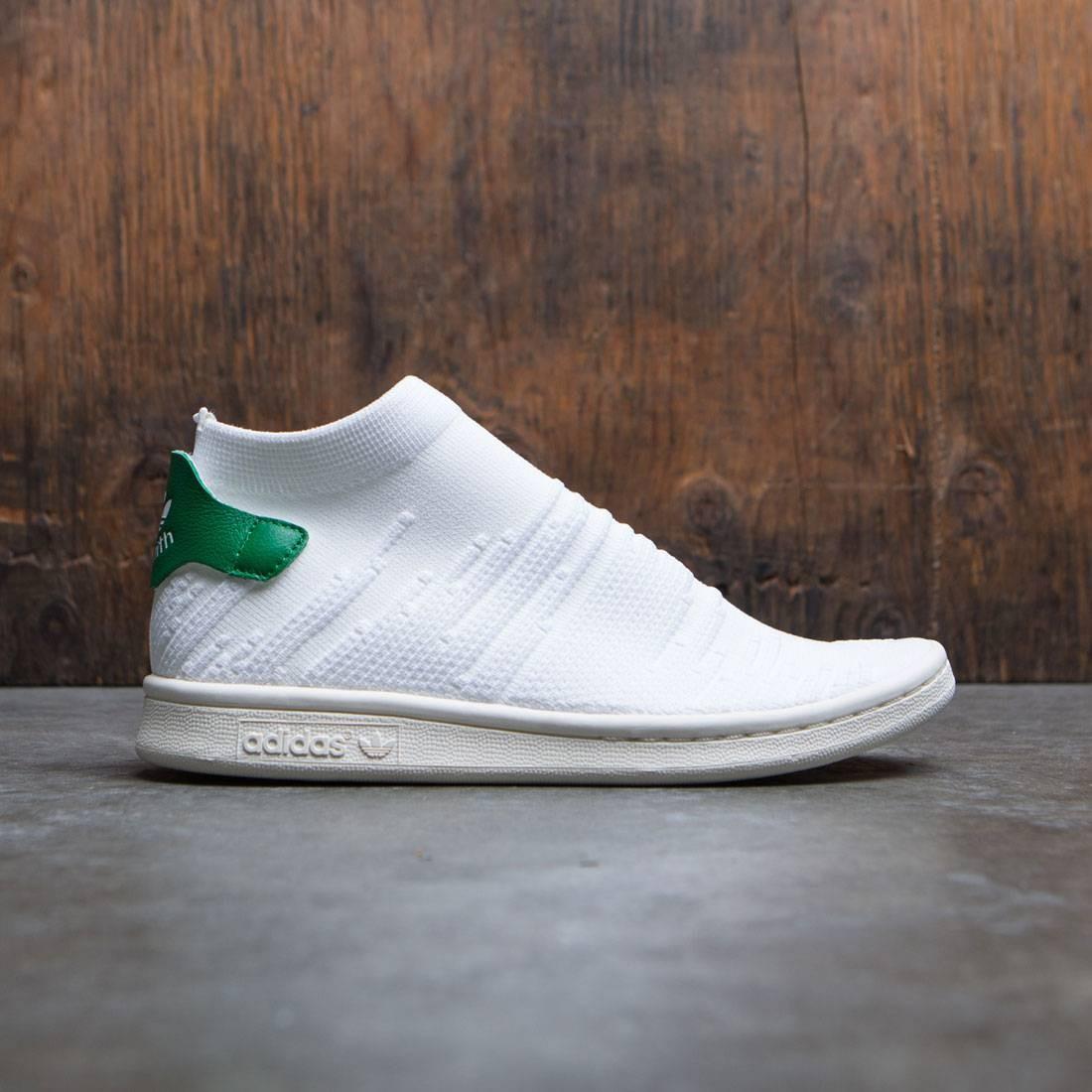 new styles 100% quality great fit Adidas Women Stan Smith Sock Primeknit W (white / footwear white / green)
