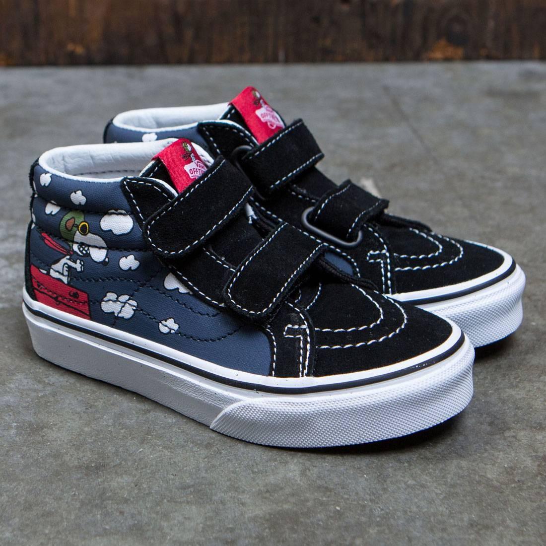 6e213eb886d0 Vans x Peanuts Big Kids Sk8-Mid Reissue V - Flying Ace (black)
