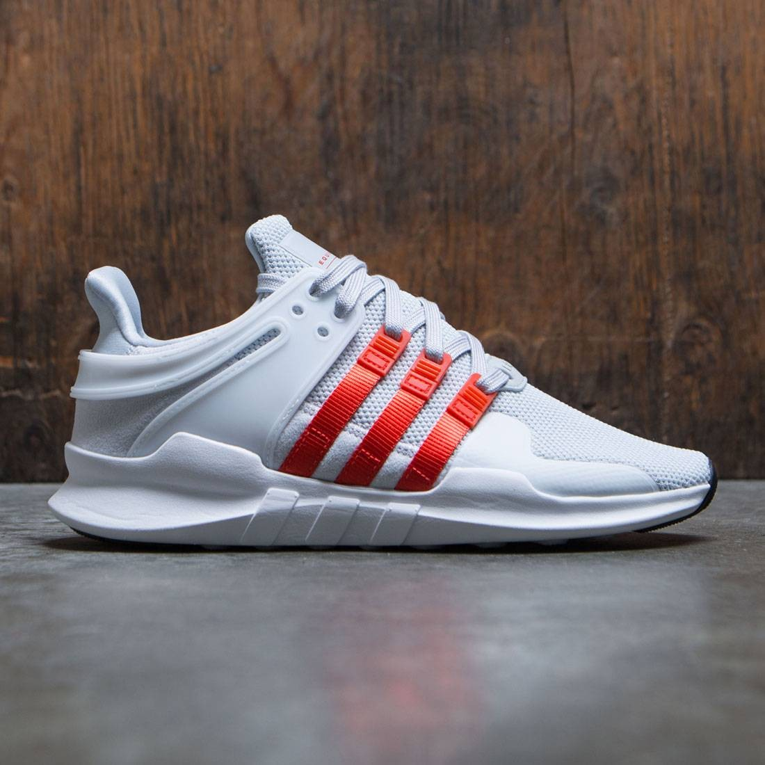 info for 29d09 43734 ... shop adidas men eqt support adv gray clear grey bold orange footwear  white 7feee ab275